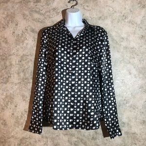 George Silky Smooth Button-Down Blouse